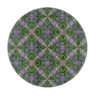 Blue agapanthus flowers kaleidoscope cutting boards