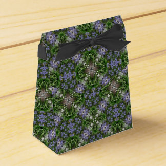 Blue agapanthus flowers kaleidoscope party favour boxes