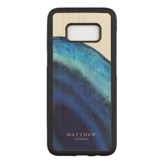 Blue Agate Carved Samsung Galaxy S8 Case
