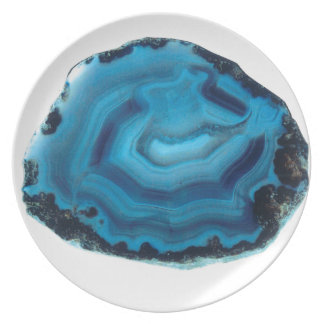 Blue Agate Party Plate