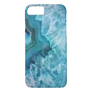 Blue Agate Semi Precious Gemstone Geode Crystal iPhone 7 Case