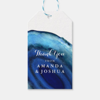 Blue Agate Wedding Monogram