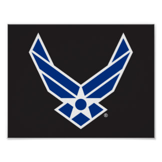 Blue Air Force Logo & Star Poster