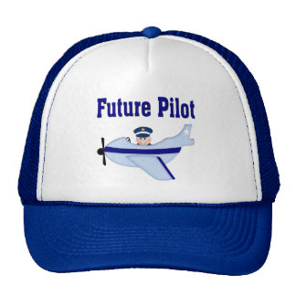 Blue Airplane Future Pilot Cap