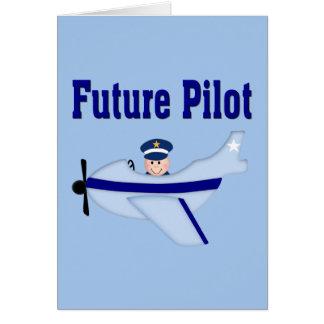 Blue Airplane Future Pilot Cards