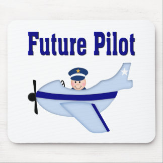 Blue Airplane Future Pilot Mouse Pad
