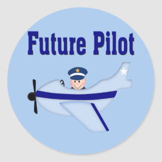 Blue Airplane Future Pilot Stickers