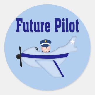 Blue Airplane Future Pilot Stickers
