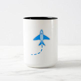 Blue Airplane Mug