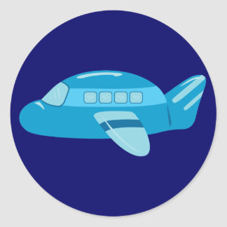 Blue Airplane Sticker