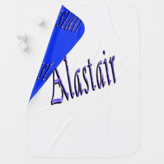Blue Alastair Name Logo, Baby Blanket