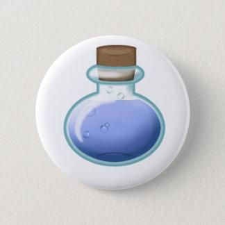 Blue Alchemy Bottle 6 Cm Round Badge