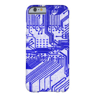 Blue Alien Circuit Board Barely There iPhone 6 Case