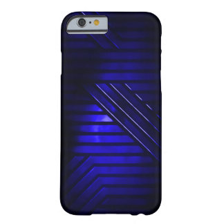 Blue Alien Metal Barely There iPhone 6 Case