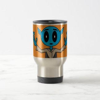 Blue Alien Travel Mug