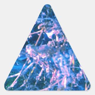 Blue Alien Virus Triangle Sticker