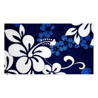 Blue Aloha Hawaii Flowers Pack Of Standard Business Cards