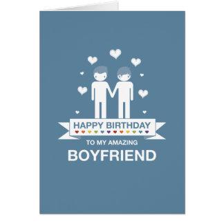 Blue | Amazing Boyfriend | Happy Birthday Card