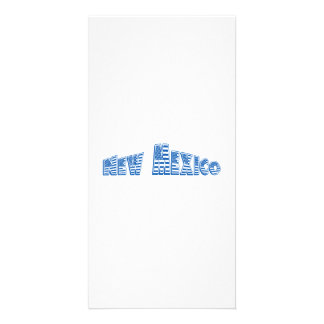 Blue American Flag New Mexico Customized Photo Card