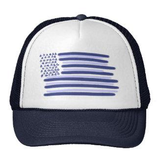 Blue American flag stars stripes guys hat