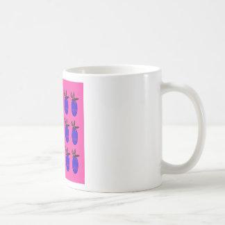 Blue ananases Design on Pink Coffee Mug