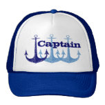 Blue anchor Captain, boy's personalised