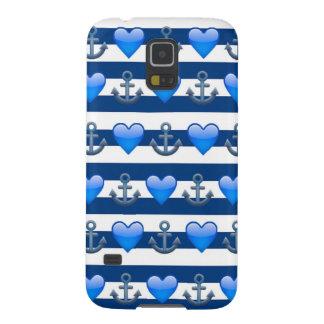 Blue Anchor Emoji Samsung Galaxy S5 Case