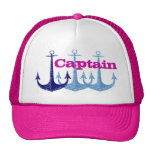 Blue anchor, girly, captain, personalised