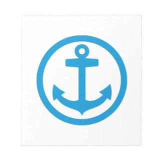 Blue anchor logo notepad