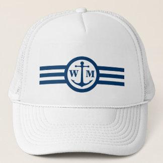 Blue Anchor Monogram Logo Hat