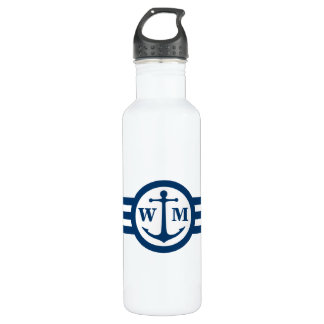 Blue Anchor Monogram Water Bottle 710 Ml Water Bottle