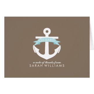 Blue Anchor Nautical Baby Shower Card