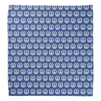 Blue anchor nautical sailors bandana