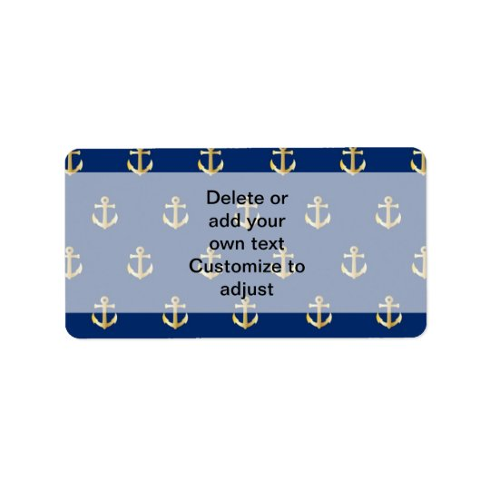 Blue anchor pattern label