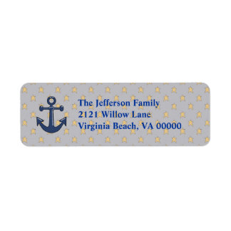 Blue Anchor Return Address Labels