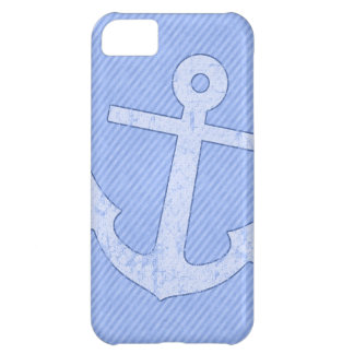Blue Anchor Stripes iPhone 5C Case