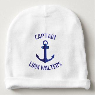 Blue Anchor Stylized Nautical Ships Captain Baby Beanie