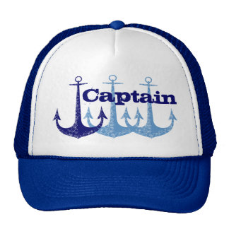 Blue anchors Captain, boy's Cap