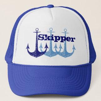 Blue anchors Captain, boy's Trucker Hat