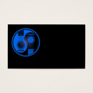 Blue and Black Acoustic Guitars Yin Yang Business Card