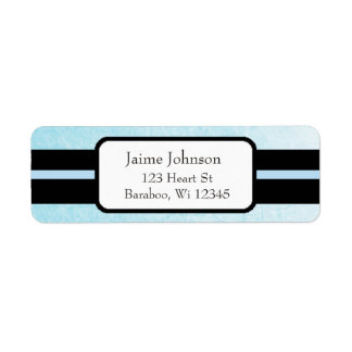 Blue and Black Classy  Return Address Sticker