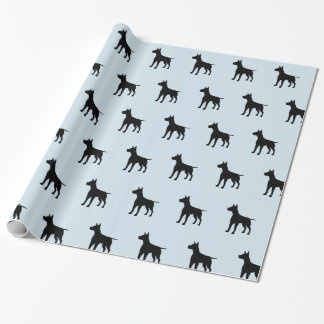 Blue and Black Dog Wrapping Paper