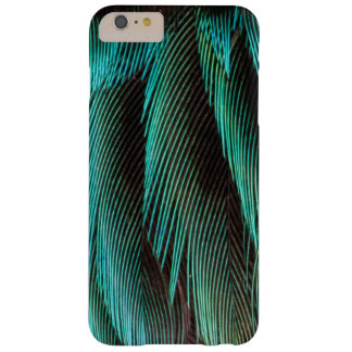 Blue And Black Feather Design Barely There iPhone 6 Plus Case