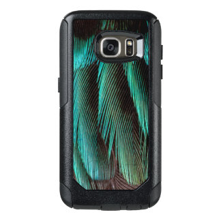 Blue And Black Feather Design OtterBox Samsung Galaxy S7 Case