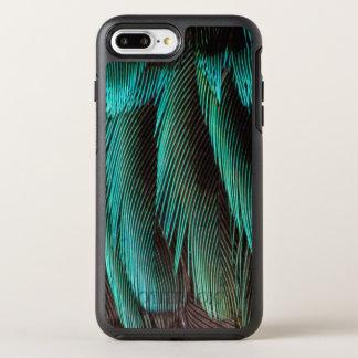 Blue And Black Feather Design OtterBox Symmetry iPhone 8 Plus/7 Plus Case