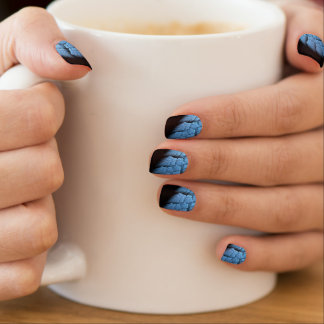 blue and black fractal minx nial minx ® nail wraps