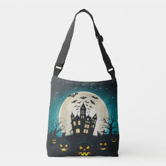 Blue and Black Halloween Crossbody Bag