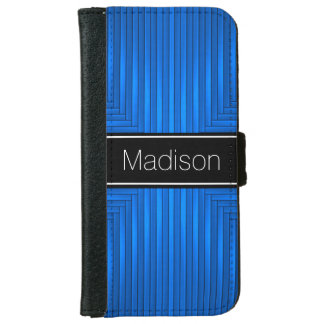 Blue and Black iPhone 6 Wallet Case