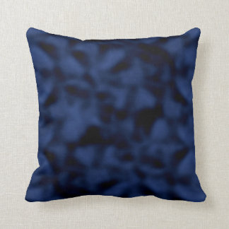 Blue and Black Mottled Throw Pillow