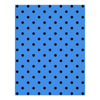 Blue and Black Polka Dot Pattern Flyers